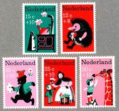 Nederland kinderpostzegels 1967 postage stamps