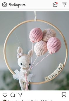 Amigurumi For Baby Room – Knitting And We Crochet Baby Mobiles, Crochet Baby Toys, Crochet Diy, Crochet Bunny, Crochet Toys Patterns, Crochet Patterns Amigurumi, Amigurumi Doll, Crochet Animals, Stuffed Toys Patterns