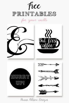 Print these a little smaller and they're perfect for a planner. I'm making the coffee one my dashboard!