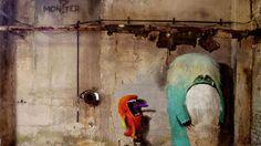 Monzter: Street Art de Monstruos ocultos en edificios abandonados de Berlín