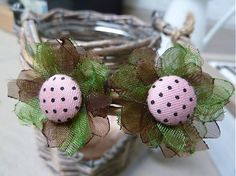 Ružové buttonky v zemi by Martinuska - SAShE.sk - Handmade Náušnice
