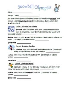 Snowball Olympics (indoors) - - Pinned by @PediaStaff – Please visit http://ht.ly/63sNt for all (hundreds of) our pediatric therapy pins