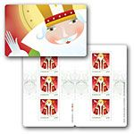 Canada Post - Santa_ Booklet of 6 stamps (international rate) - NEW Saints For Kids, Saint Nicolas, Canada Post, Holiday 2014, December 25, Patron Saints, Postage Stamps, You Got This, Christmas Cards