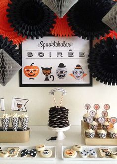 Snacks at a Hipster Halloween party!  See more party planning ideas at CatchMyParty.com!