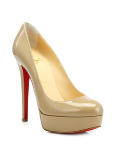 ad9a3c8e9d21 Artesur » christian louboutin round-toe platform pumps Beige ... Hot Shoes