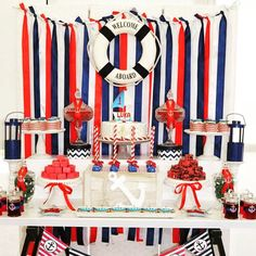 I'm wearing navy and feeling nautical today! Check out this vibrant nautical 1st birthday from @opulenticity_party_styling by clicking on our profile link!