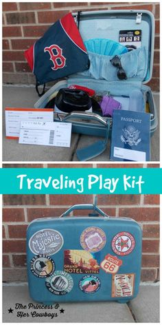 Traveling Play Kit for Kids Hands On Activities, Learning Activities, Family Activities, Prop Box, Dramatic Play Centers, Play Centre, Kits For Kids, Kids Hands, Diy Crafts For Kids