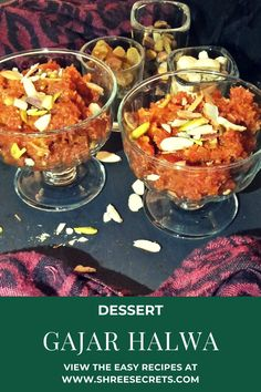 Indian carrot pudding is a traditional dessert made by using red/orange grated carrots cooked with milk and sugar flavored with cardamom powder and garnished with nuts .