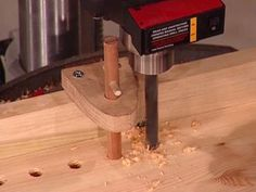 drilling holes with indexing pin