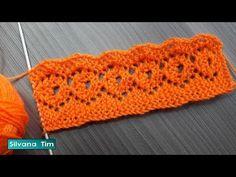 Tejido a dos agujas: Puntilla Rombos Calados. Crochet Edging Patterns, Easy Knitting Patterns, Lace Knitting, Knitting Stitches, Crochet Designs, Knitting Designs, Crochet Hooded Scarf, Knit Crochet, Crochet Bedspread