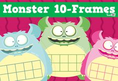 Monster 10-frames - Addition & Subtraction Strategies