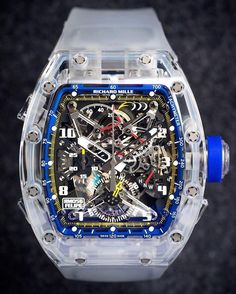 Richard Mille RM 056 Tourbillon Chronograph Sapphire - Felipe Massa. Comprised of more than 500 individual components and surrounded by a sapphire case, Felipe Massa's watch is confidently relied upon no matter the conditions.