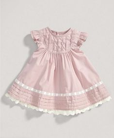 Girls Pale Pink Frill Dress - New Arrivals - Mamas & Papas
