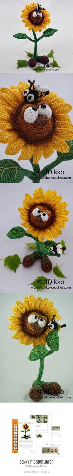 Sonny the Sunflower amigurumi pattern