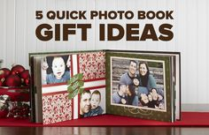 Here are 5 ways to create a quick photo book perfect for last-minute gifting #giftideas #photobooks
