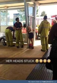 Not the best way to meet a cute fireman.