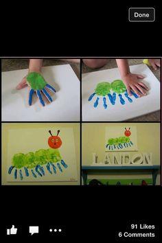 Hand print caterpillars