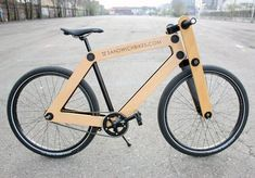 The Sandwichbike  A flat-packed wooden bicycle delivered to your door for self assembly