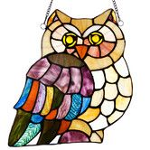 Found it at Wayfair - Hoot's Stained Glass Owl Panel