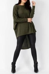 Over sized knitted top khaki