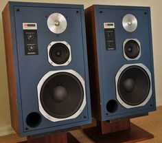 JBL 4313 Monitors with blue face.