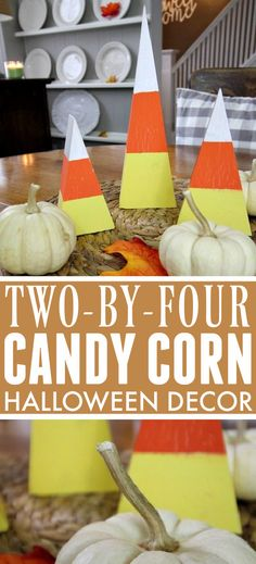 Candy Corn Decor Made From 2x4 Wood Scraps! | The Creek Line House