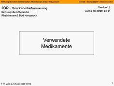 Rettungsdienst in den Bereichen Rheinhessen & Bad Kreuznach: schnell – kompetent - mitmenschlich © Th. Luiz, G. Scherer 2008-03-14 1 Version 1.3 Gültig.