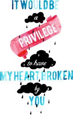 JOHN GREEN//IT WOULD BE A PRIVILEGE Art Print by Connie Cann