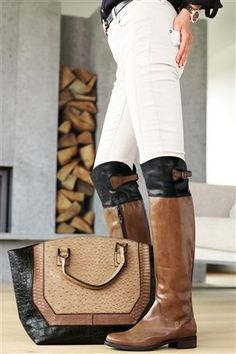 Buy Over-The-Knee Tan And Black Rider Boots online today at Next Direct United States of America