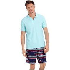 Herren Ready to Wear - Solid Polohemd aus Baumwollpikee für Herren - Polohemd - Palatin - Blau - Xxx