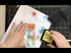 The Beautiful Lavinia Stamps Indra Moth and some stencil tape ! - YouTube