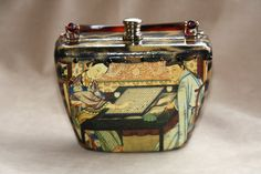 Does anyone else remember these?...  Stella Page Decoupage Purse by lakeforestresale on Etsy, $125.00