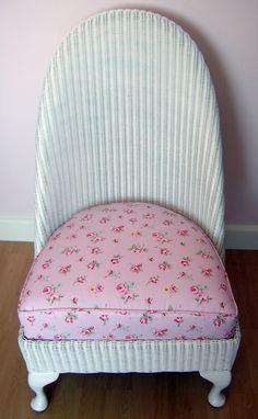 Upcycled Lloyd Loom Nursing Chair