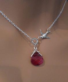 Ruby+and+Sparrow+swarovski+briolette+crystal+by+RoyalGoldGifts,+$26.00