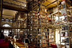 Love daydreaming about visiting beautiful old libraries? Check out these photos, including this one of Uris Library at Cornell University in Ithaca, New York.
