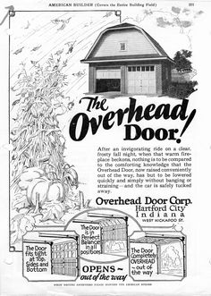 Check out this advertisement from the year 1927 in American Builder Magazine! #advertising #builder #garagedoors #ad