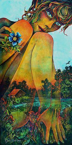 """Sister Gaia"" Acrylic on Canvas Artist: P. John Burden"