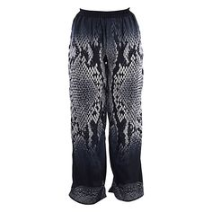 Welcome to Blε - Ble Resort Collection Harem Pants, Pajama Pants, Trousers, Short Outfits, Black Print, Pajamas, Shorts, Medium, Clothes