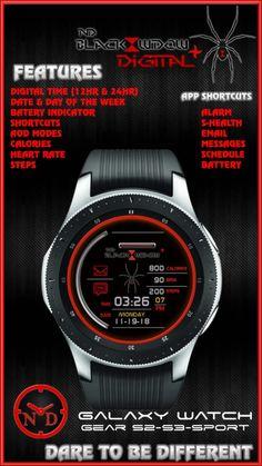 Samsung Watchface Designs for the Galaxy Watch, Gear Sport, Gear S3