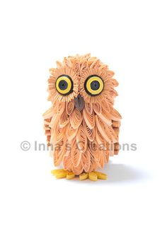 3D quilled baby owl - I made one just like this. Took me a really long time, but I love it.