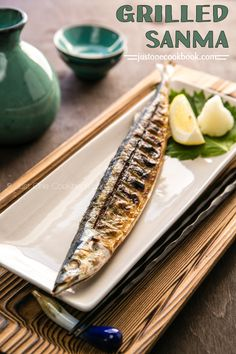 Grilled Sanma (秋刀魚の塩焼き) | Easy Japanese Recipes at JustOneCookbook.com