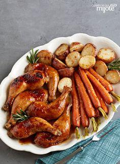 Poulet rôti à l'érable et à la moutarde #recette