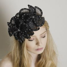 Violet - Carrie Jenkinson Millinery #fascinators #bespokefascinators #hats #headwear #milliners #millinery