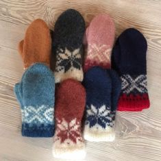 Excited to share this item from my #etsy shop: Tailor-made Norwegian handknitted felted wool mittens in various colours and sizes for you to order #mittens #wool #felted #KnitstyleDesign #Strikkeblogg