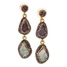 Druzy Quartz Earrings from Turkey