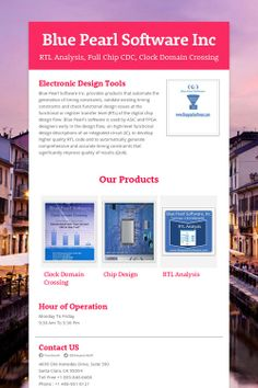 Blue Pearl Software Inc - Clock Domain Crossing and Electronic Design Tools .