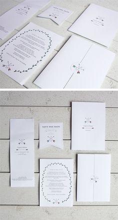 Wedding stationary. White boho invitations. Anna: Det där bröllopspysslet