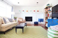 Bright colored home with lots of white and neutrals and great kids spaces, the whole house tour is an A+