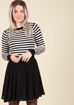 Essential Element Skater Skirt in Black, #ModCloth
