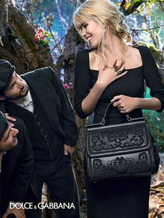 ~Dolce & Gabbana Fall ad 2014 with Claudia Schiffer at age 44   The House of Beccaria